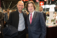 Geneva Book and Press Fair, with M. Bertrand Piccard, April 2017.