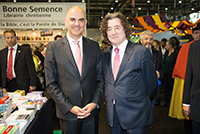 With Mr. Alain Berset, Federal Councilor, Geneva Book and Press Fair, April 2017.