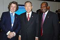 Mr. Ban Ki Moon, United Nations Secretary-General. Mr. Hamadoun Touré, ITU Secretary-General. © ITU, October 2009