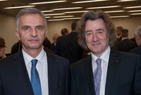 Mr. Robert Hensler with Mr. Didier Burkhalter, President of the Swiss Confederation. March 2014. (copyright Chardonnens)