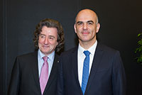 Geneva International Motor Show with Mr. Alain Berset, Federal Councillor, March 2016