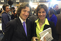 Geneva Book and Press Fair, Mr. Robert Hensler and Mrs. Anne Emery-Torracinta, State Councillor in charge of the Department of public instruction, culture and sport. April 2016