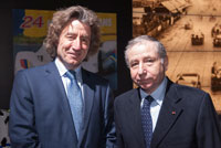 Mr. Robert Hensler with Mr. Jean Todt, President of FIA, la Fédération Internationale de l'Automobile. March 2014. (copyright Chardonnens)