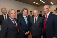 Mr. Ueli Maurer, President of the Swiss Confederation, Mr. Maurice Turrettini and Mr. André Hefti, respectively President and Chief Executive of the Geneva International Motor Show. March 2013