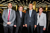 Mr. Alexandre Fasel, Ambassador of the Mission of Switzerland to the United Nations and the international organizations in Geneva, Mr. Alain Berset, Federal Councilor in charge of the Federal Department of Home Affairs (DFI), Mrs. Anne Emery Torracinta, State Councillor in charge of the Department of Public Instruction, Culture and Sports (DPI).