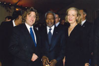 Mr. Kofi Annan, United Nations (UN) Secretary-General and his wife, Fête de la Communication. © M. Faustino, April 2008