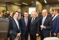 Geneva International Motor Show 2017, with Mr François Longchamp, President of the Geneva State Counsil, Mr Johann Schneider-Ammann, Federal Councillor, and Mr Maurice Turrettini, President of the Geneva International Motor Show, Mars 2017.