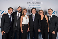 Board Members, from left to right : Prof. Marc Ansari, Mr Sébastien Joliat, Ms Céline Denizot, Me Robert Hensler, Ms Laurence Bagnoud-Roth and Mr Maurice Machenbaum, Cansearch Charity Event, september 2017. (Picture by Ms Carole Parodi)