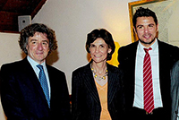 Davis Cup 2015, with Mr. Stan Wawrinka and Mrs. Anne Emery-Torracinta, State Councillor in charge of the Department of public instruction, culture and sport. September 2015.