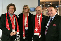 Mr. Ueli Maurer, federal Councillor, Mr. René Stammbach, President of Swiss Tennis, Lille, finale Davis Cup Switzerland-France, November, 2014