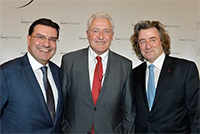 Mr. Robert Hensler with Mr. Luc Barthassat, Geneva Government State Concilior (DETA) and Mr. Carlos Torres, CEO Vacheron Constantin SA, Salon de la Haute Horlogerie, January 2015. Photo Morvan.